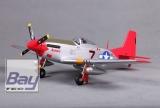 FMS Mini P-51 Mustang Rot V2 im PNP Set ohne Akku/RC
