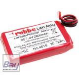 Robbe 2S 2800mAh TX Li-Po (f. Futaba)  Senderakku  für T6K, T8J, T10J, T12K, T14SG, T16SZ, T18SZ, FX20, FX30, FX32, FX36, und T4PLS, T4PKS, 4GRS, T4PV, T4PX, T7PX