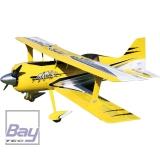 PREMIER AIRCRAFT MAMBA 70CC ARFSV GELB/SCHWARZ/WEISS MIT EINGEBAUTEN DIGITAL HV SERVOS, DOPPELDECKER