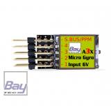 Bay-Tec A3X Micro Gyro - für kleinere Flugmodelle, Trainer und Shockies - 5 Flugmodi - Sbus/PPM