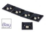 Kabelbinder-Befestigung selbstklebend, Nylon 66 Schwarz, 12,5 mm x 12.5mm, bis 3.2mm Kabelbinder, 10 Stück