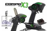 Jamara Pistolen Fernsteuerung Compa X3 EVO 2,4 GHz incl. Empfänger