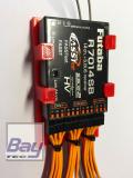 Futaba R7014SB Empfängerhalterung mit Servokabel Zugentlastung - ROT