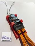 Futaba R7008 / R7108 / R2008 / R3008 / R6106 Empfängerhalterung mit Servokabel Zugentlastung - ROT