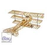 Bay-Tec Fokker DR1 1540mm Doppeldecker Lasercut CNC Holzbaukasten