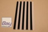 10 Heißklebe-Sticks 11 x 200 mm - klar/schwarz gemischt