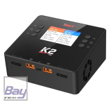 iSDT SMART CHARGER K2 DUO - 200/500W, 20A, 2x6S Lipo, mit integriertem Netzteil