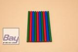 10 Heißklebe-Sticks 11 x 200 mm - sortiert