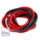 Silicon Kabel 4,0 qmm Rot und Schwarz je 1m