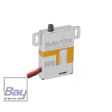SAVÖX SG-0212MG Servo      schmales Flächenservo nur 8mm     Voll-Aluminiumgehäuse     ideale Wärmeableitung     5kg Stellkraft     0,10s Stellzeit an 7,4V
