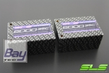 SLS XTRON 6000mAh 2S3P 7,4V 35C/70C  Saddle Hardcase Steckkontakte