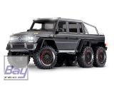 TRAXXAS Mercedes-Benz G63 AMG 6x6 RTR ohne Akku/Lader inkl Licht 1/10 6WD Scale-Crawler Brushed silber